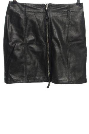 H&M Jupe en cuir noir style décontracté