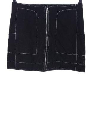 H&M Lederrock schwarz Casual-Look