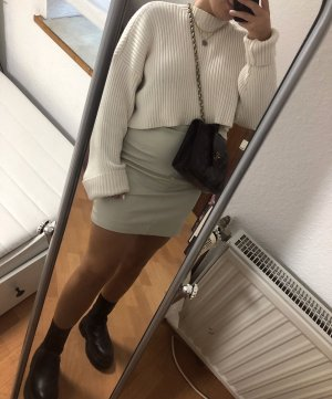H&M Faux Leather Skirt oatmeal