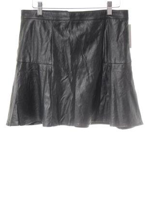 H&M Lederrock schwarz