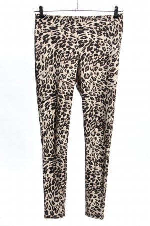 H&M Leggings creme-schwarz Allover-Druck Casual-Look