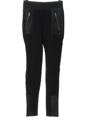 H&M Leggings schwarz Steppmuster Casual-Look