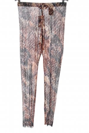 H&M Leggings schwarz-braun abstraktes Muster extravaganter Stil