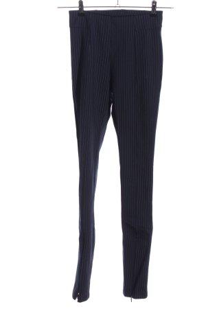 H&M Leggings blau-weiß Streifenmuster Casual-Look