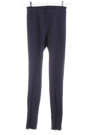 H&M Leggings blau Streifenmuster Casual-Look