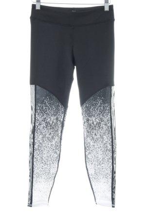 H&M Leggings schwarz-weiß meliert sportlicher Stil