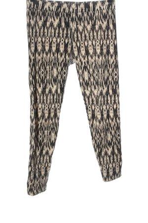 H&M Leggings black-cream graphic pattern casual look