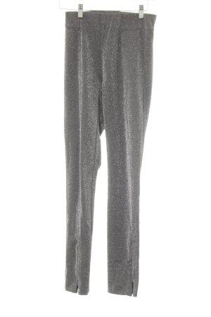 H&M Leggings grau-silberfarben Glitzer-Optik