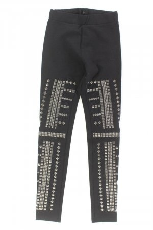 H&M Leggings Größe XS mit Nieten schwarz aus Viskose