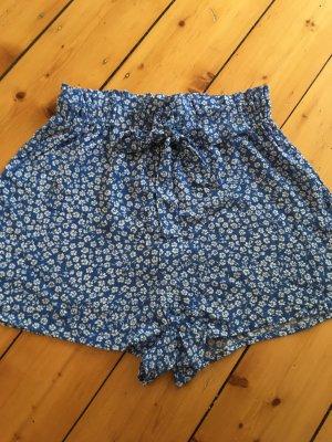 Devided von H&M Shorts neon blue-white cotton