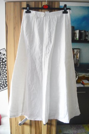 H&M Falda de lino blanco Lino