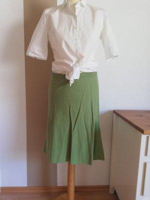 H&M Falda de lino verde