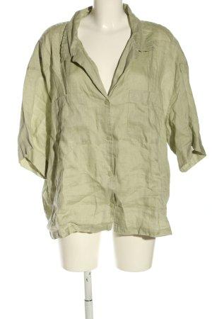 H&M Blusa de lino caqui elegante
