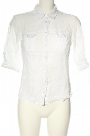 H&M Linen Blouse white business style