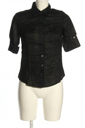 H&M Linen Blouse black casual look