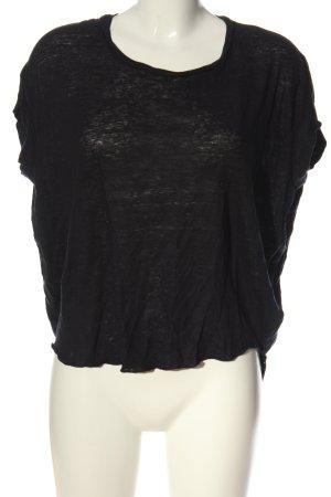 H&M Linen Blouse black casual look