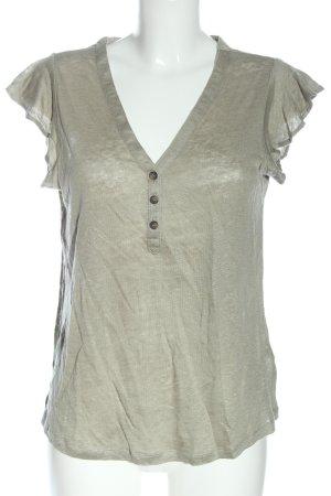 H&M Blusa de lino blanco puro look casual
