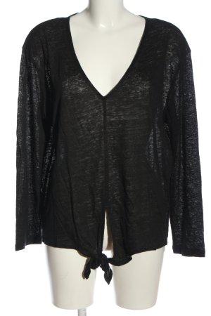 H&M Linnen blouse zwart casual uitstraling