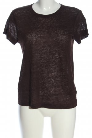 H&M Blusa de lino marrón look casual