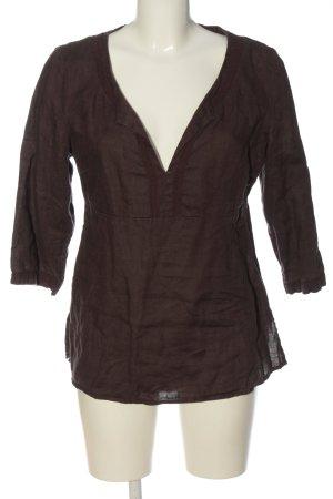 H&M Blouse en lin brun style décontracté