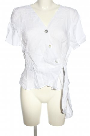 H&M Linen Blouse white casual look