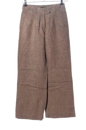 H&M Linnen broek bruin gestippeld casual uitstraling