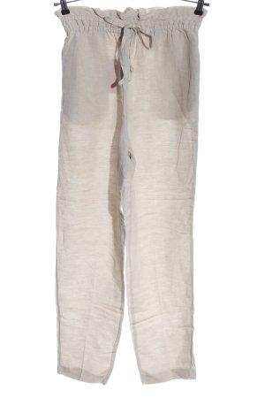 H&M Pantalon en lin blanc cassé style décontracté