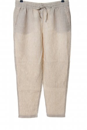 H&M Linen Pants natural white-white allover print casual look