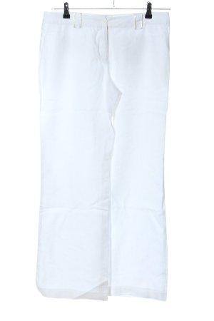 H&M Pantalon en lin blanc style décontracté