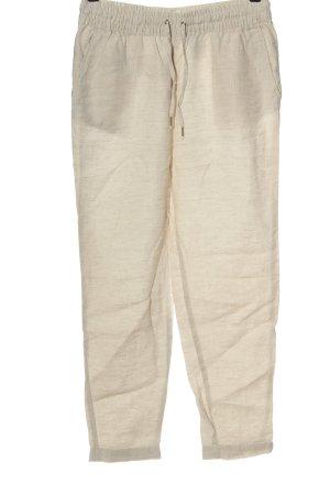 H&M Lniane spodnie w kolorze białej wełny W stylu casual