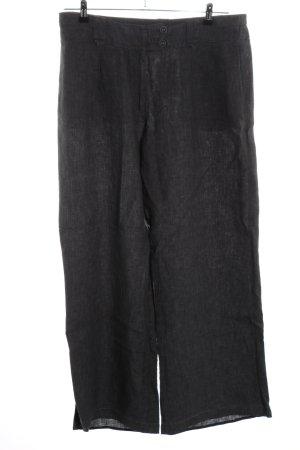 H&M Pantalón de lino gris claro look casual
