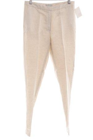 H&M Pantalon en lin crème moucheté style décontracté