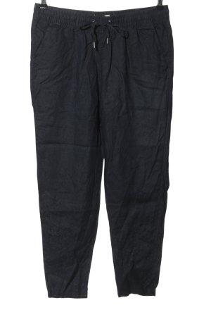 H&M Pantalon en lin noir style décontracté