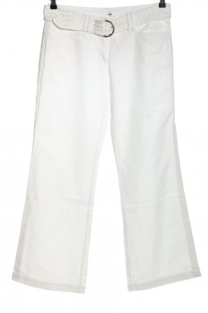 H&M Linen Pants white casual look