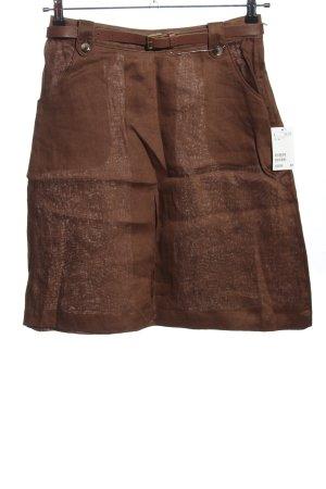 H&M Leinenrock braun Casual-Look