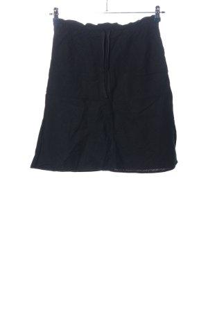 H&M Lniana spódnica czarny W stylu casual