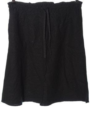 H&M Lniana spódnica czarny W stylu biznesowym