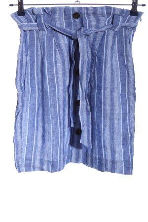 H&M Linnen rok blauw-wit gestippeld casual uitstraling