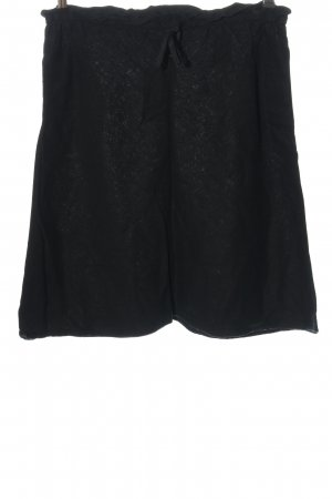 H&M Lniana spódnica czarny Elegancki