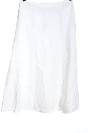 H&M Falda de lino blanco elegante