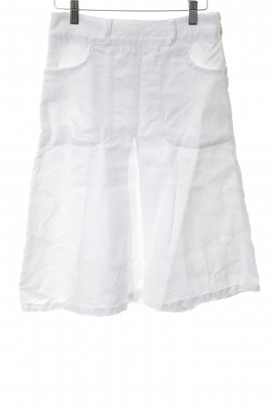 H&M Lniana spódnica biały W stylu biznesowym