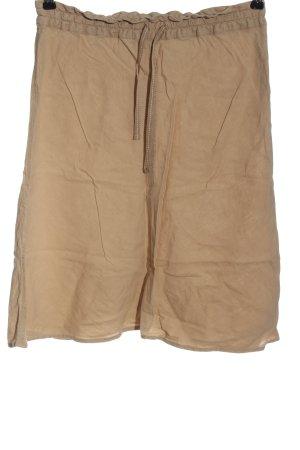 H&M Falda de lino marrón look casual