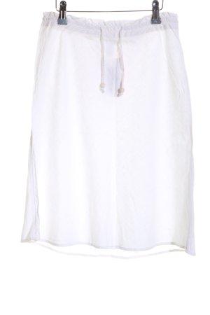 H&M Falda de lino blanco look casual