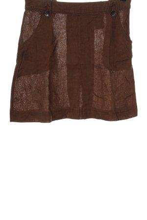 H&M Linen Skirt brown elegant