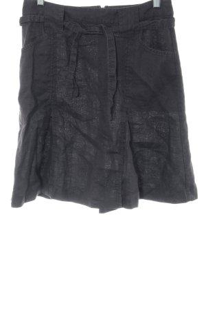 H&M Falda de lino negro look casual