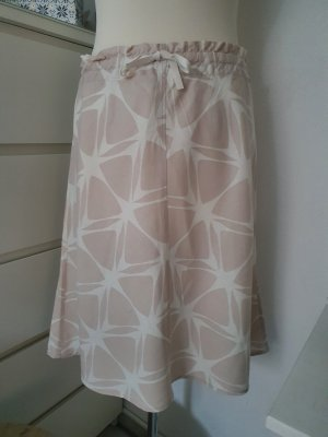 H&M Jupe en lin beige-blanc
