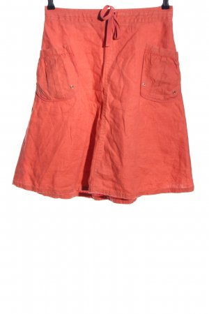 H&M Linen Skirt light orange casual look