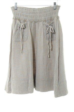 H&M Lniana spódnica turkusowy-jasny pomarańczowy Na całej powierzchni