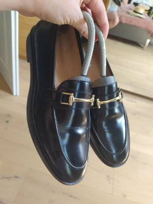 H&M Slippers black-gold-colored