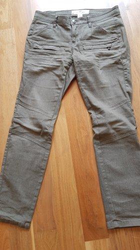 H&M L.O.G.G. Jeans a 7/8 grigio-verde